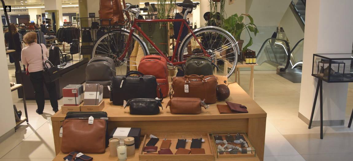 Bags at display in The Bijenkorf Amsterdam