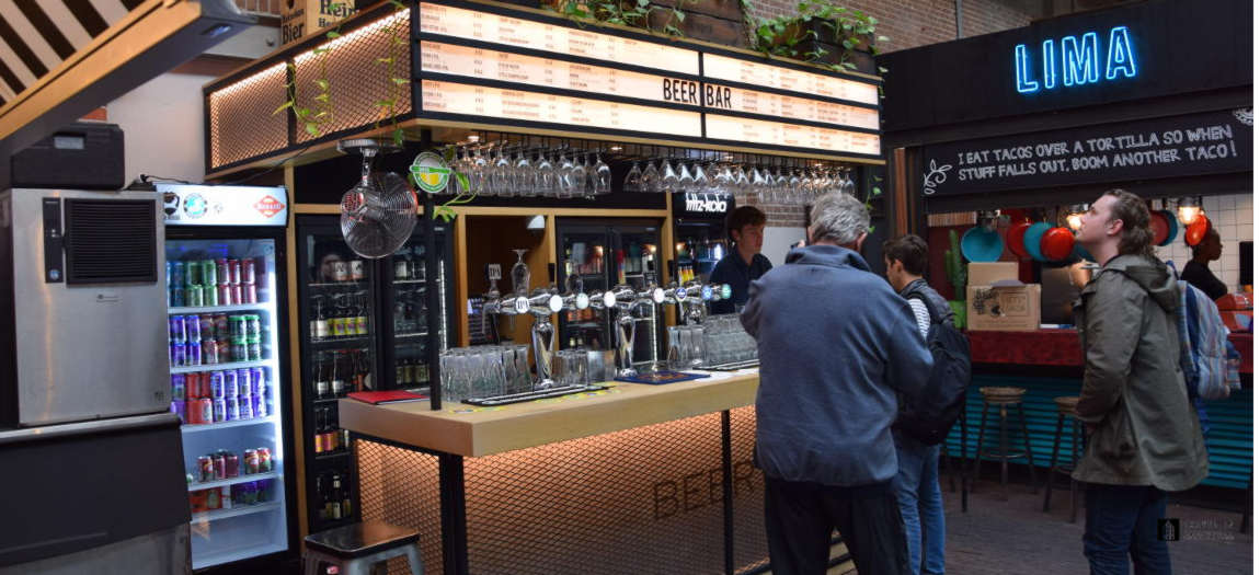 The Beerbar at the Foodhallen in Amsterdam