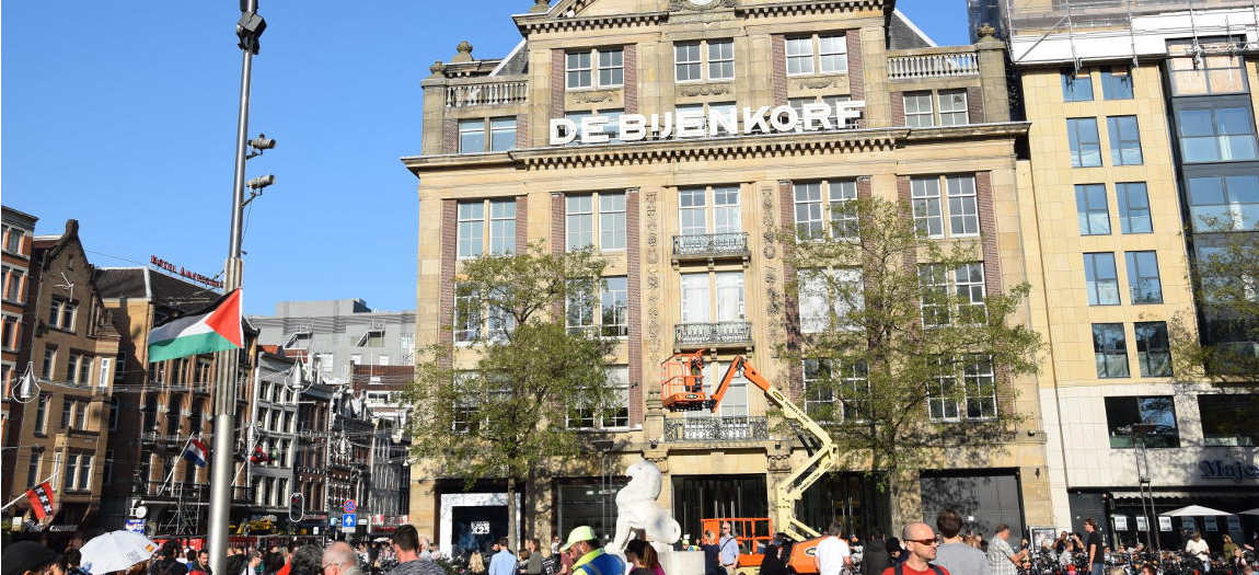 Premium department store The Bijenkorf - Travel in Amsterdam