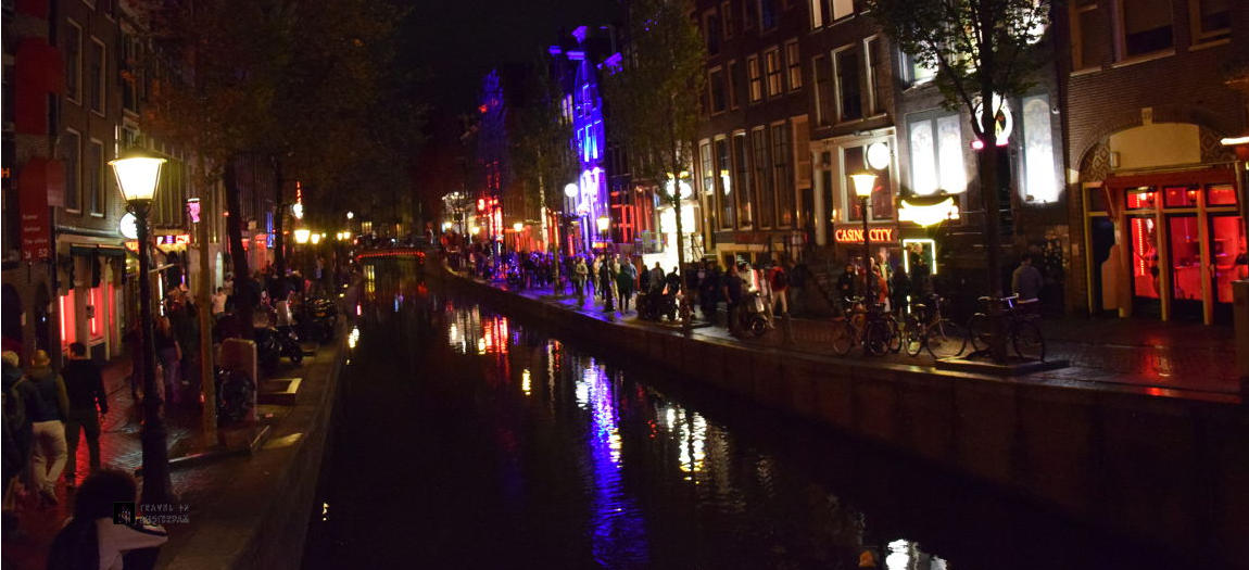 Red Light District Amsterdam along the canals