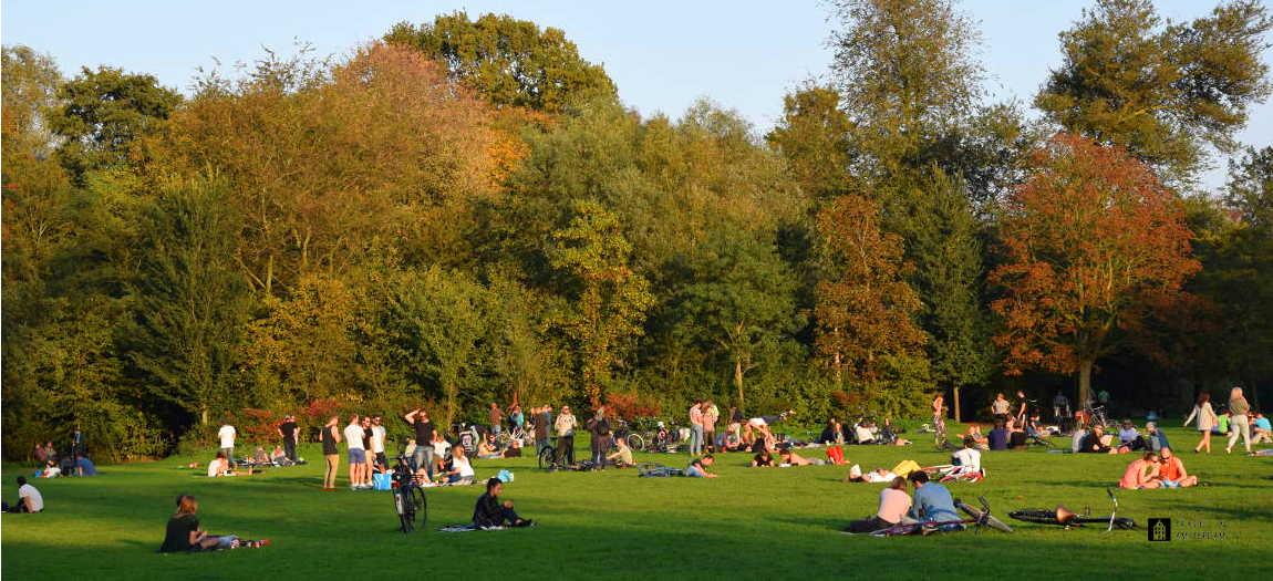 People enjoying the Vondelpark