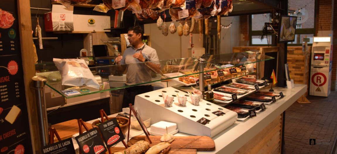 Spanish tapas at the Foodhallen