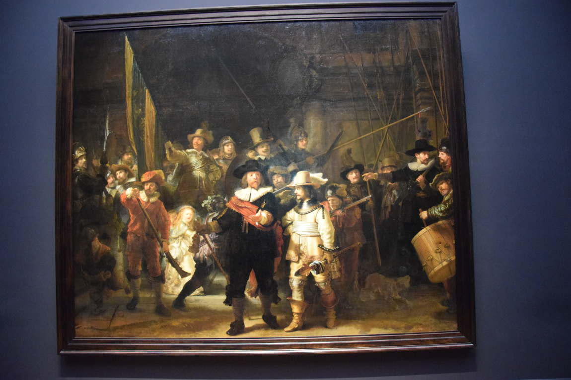 Rembrandt's famous painting The Night Watch