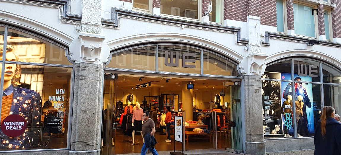 The WE shop in the Kalverstraat in Amsterdam