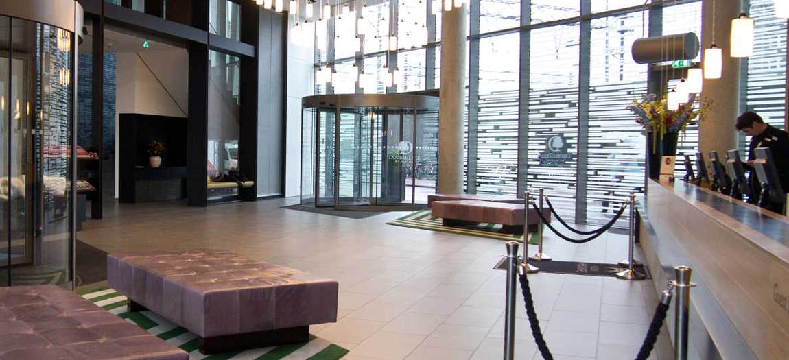 Lobby in the DoubleTree Hilton Amsterdam