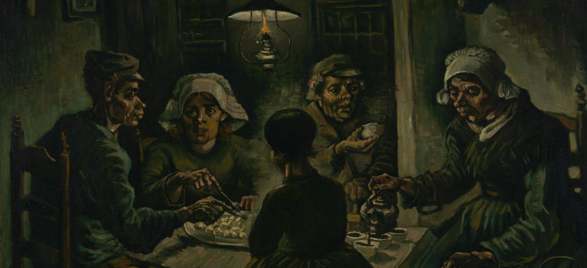The Potato Eaters Painting from Vincent Van Gogh