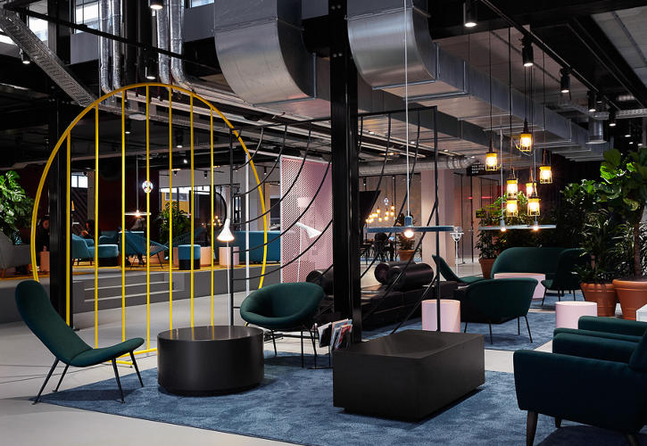 Lobby of The Student Hotel Amsterdam City
